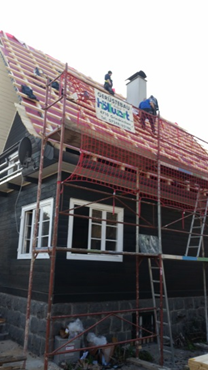 nachher: Dacharbeiten mit Fangschutz