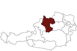 Österreichkarte mit Standort des Arbeitsinspektorates Oberösterreich Ost