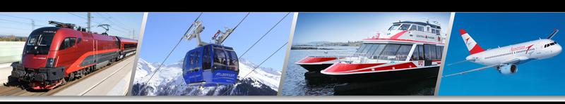 Die Einsatzbereiche des VAI: Eisenbahn-, Seilbahn-, Schiff- und Luftverkehr